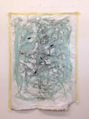 Graphit, Öl/Packpapier 146 x 103 cm