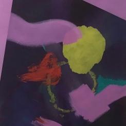 Zinnober II | Oil on canvas | 100 x 80 cm