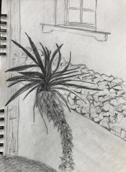 """Auf da Sunaseit'n"" | Bleistift | Skizzenblock | 30 x 20 cm"