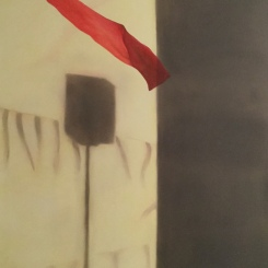 Fahne Oel|Leinwand 120 x 100 cm