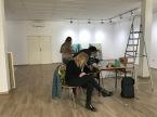 Aufbau/Hängung Galerie Sarghini