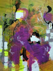 vision | mixed media on canvas | 120 x 95 cm