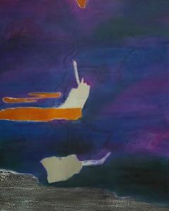floating 2 | acrylic, oil on canvas | 100 x 80 cm