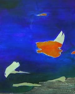 floating 1 | acrylic, oil on canvas | 100 x 80 cm